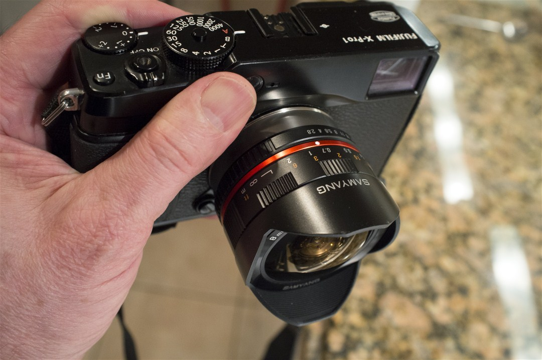 Samyang 8mm Fisheye with X Mount: Fujifilm X System / SLR